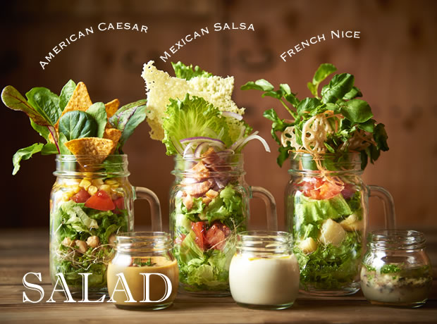 CAFE THE VUKEのサラダ